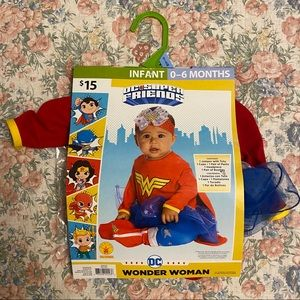 Wonder Woman 0-6 Month Costume NWT